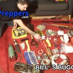 site owner bill shows us the contents of his bugout bag