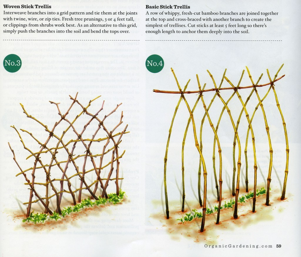 making your own garden trellis
