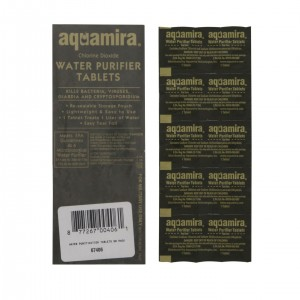 water survival preparation water purifying tablets