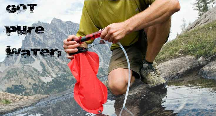 water survival preparation water filtration